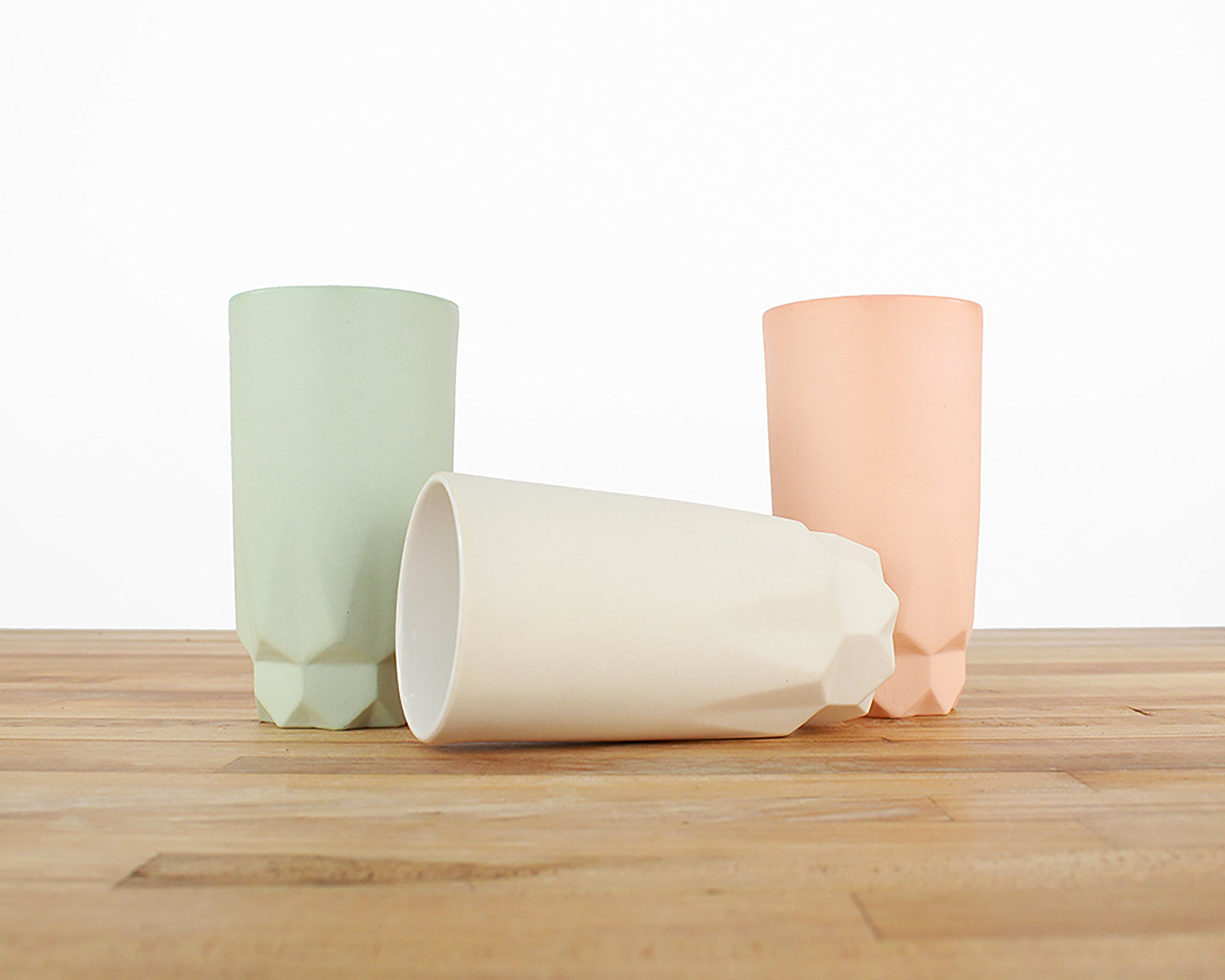 Tall Faceted Cup