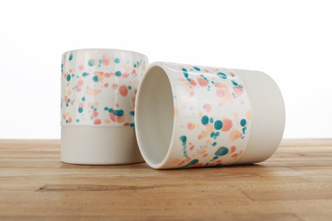 12 Ounce Spotted Glaze Cup - Tropical