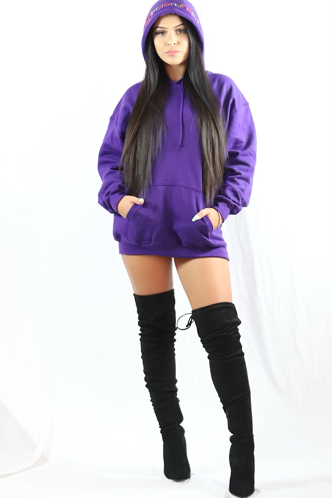 Purple Hoodie with Orange/yellow  Logo