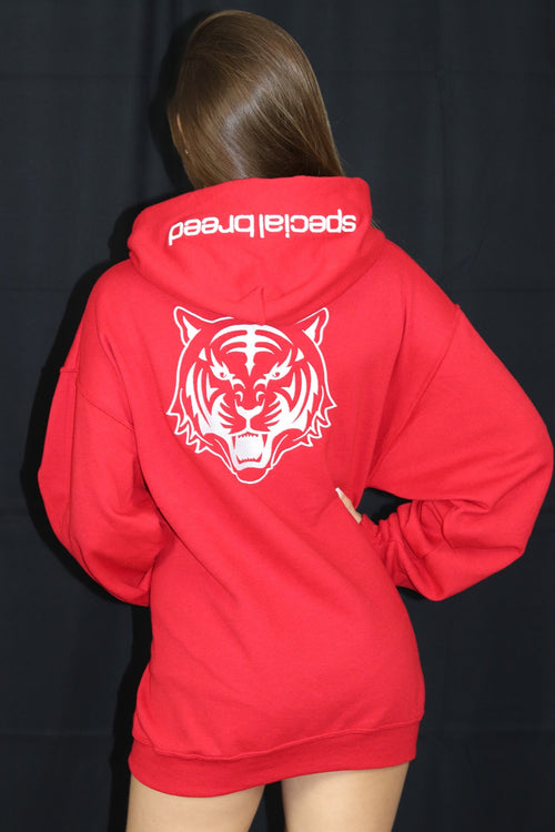 Red Hoodie with White Logo