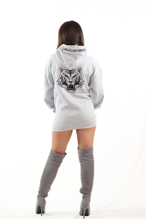 Grey Hoodie with Black Logo Unisex
