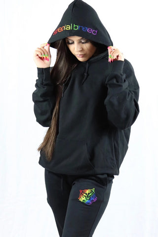 Black Hoodie with Gold Logo Unisex
