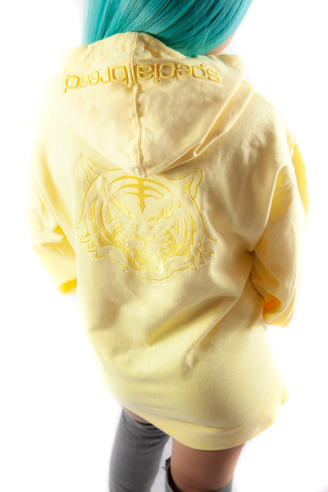 Women's Pale Yellow Hoodie with Logo