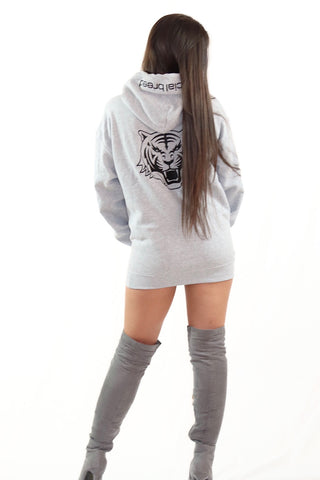 Black Cropped Hoodie with Black Logo