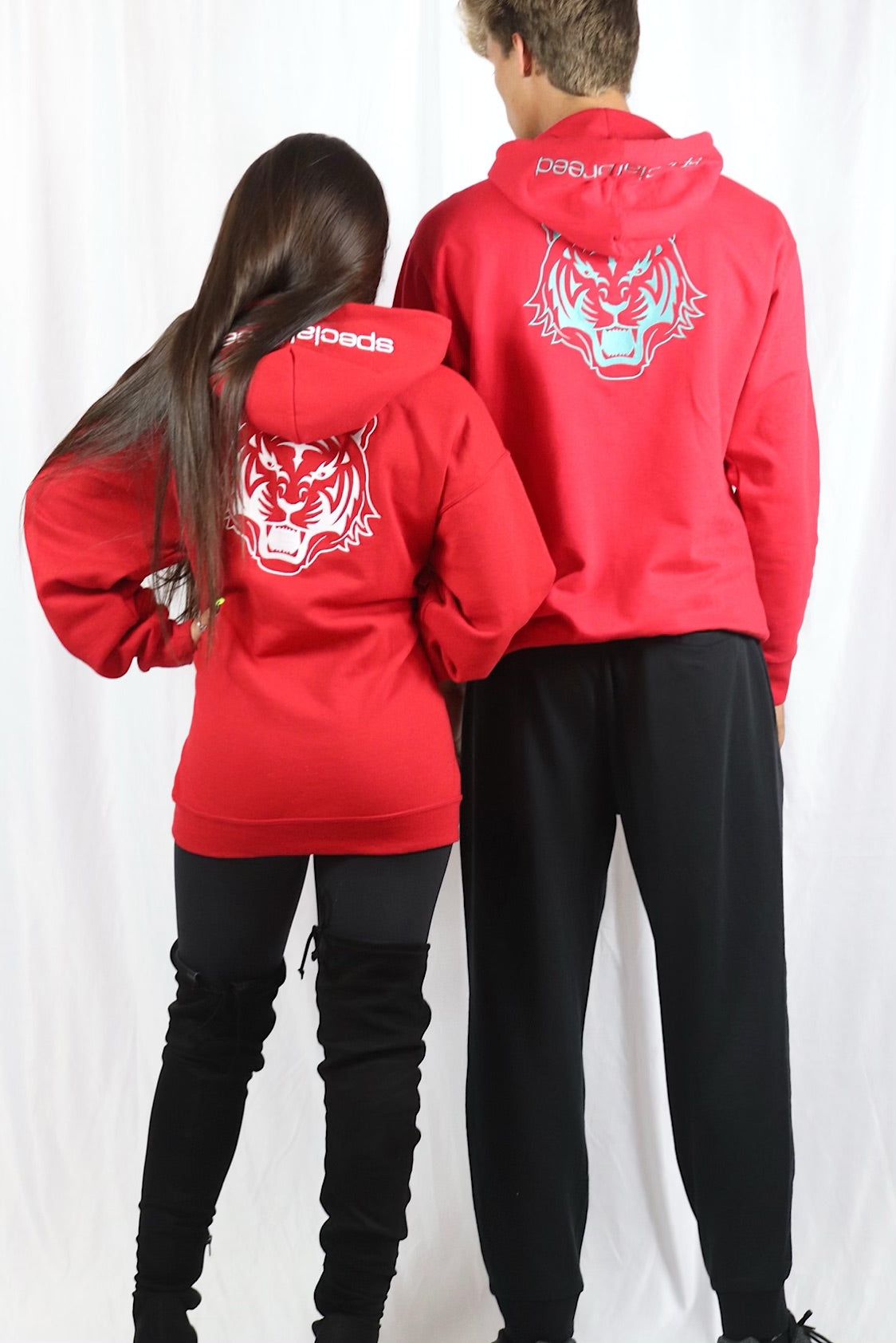 Red Hoodie with Logo Unisex