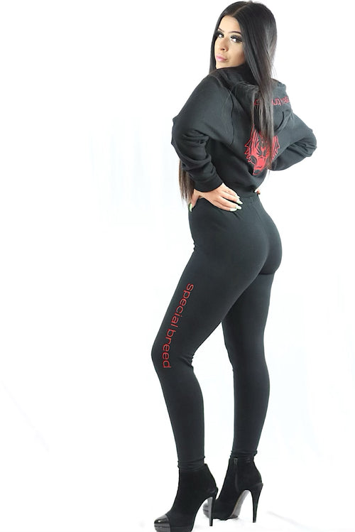 Black Legging w Red Logo