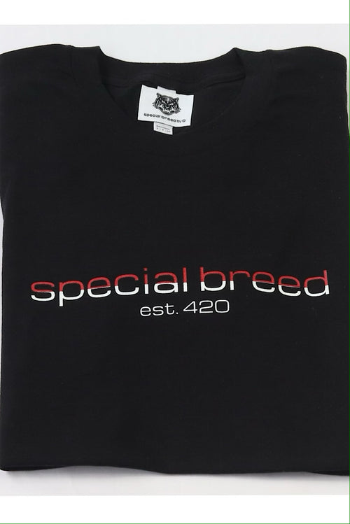 Black Logo Tees Red/White Special Breed