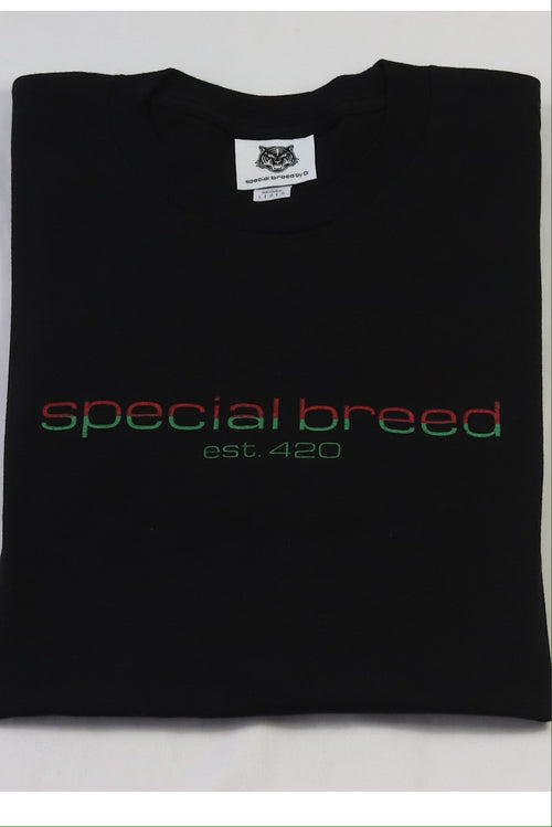 Black Logo Tees Red/Green Special Breed