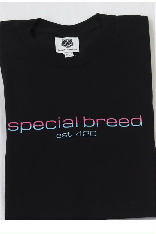 Black Logo Tees Pink/Blue Special Breed