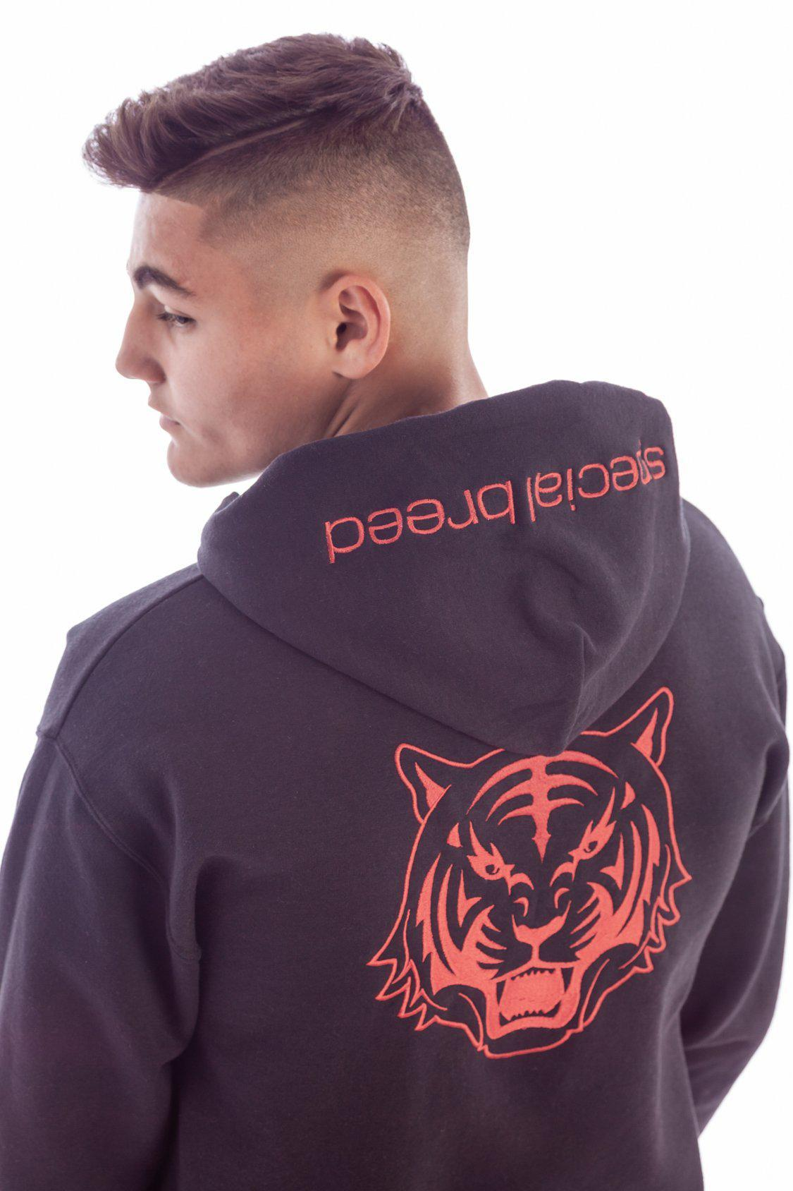 Black Hoodie with Red Logo Unisex - specialbreed