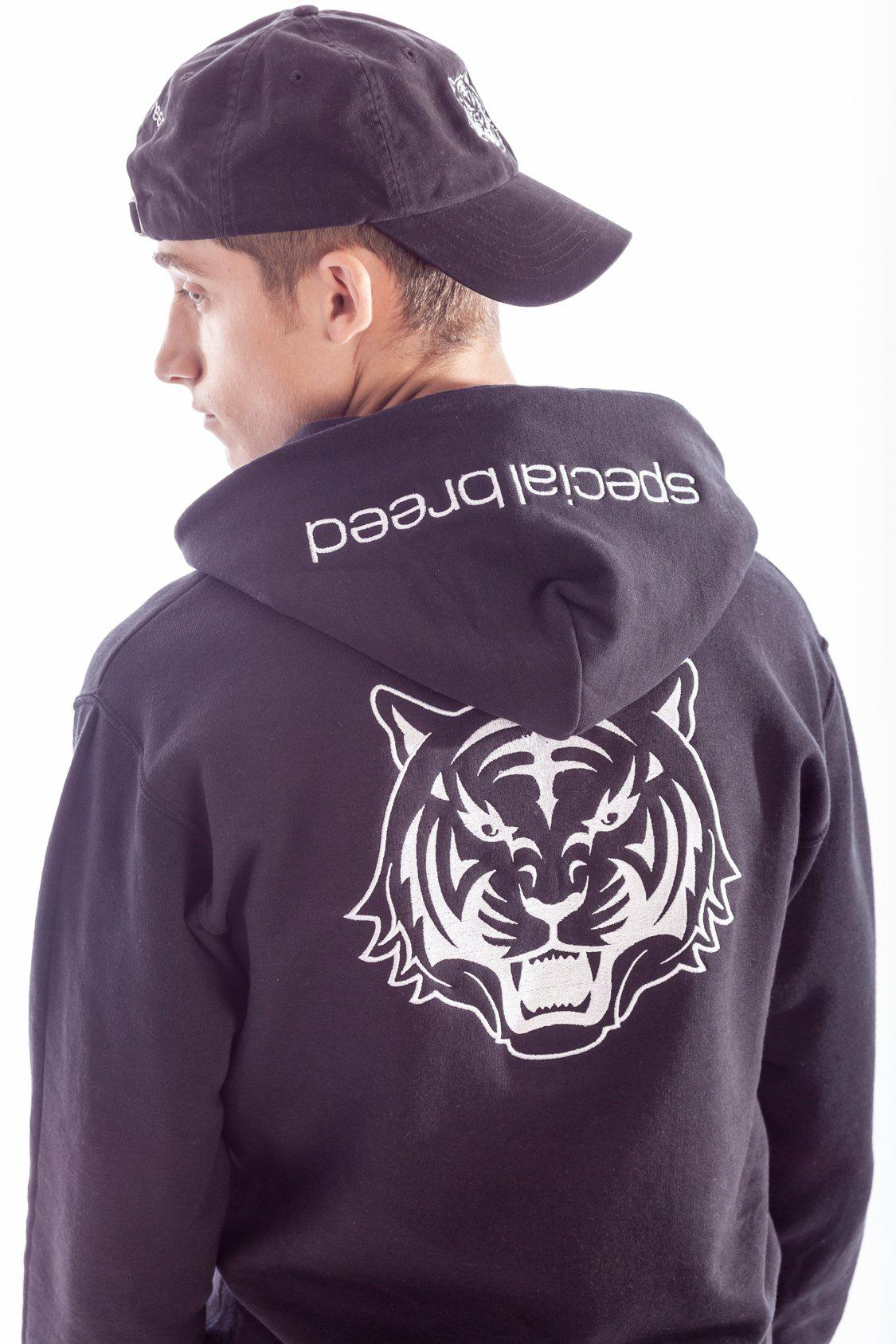 Black Hoodie with White Logo - specialbreed