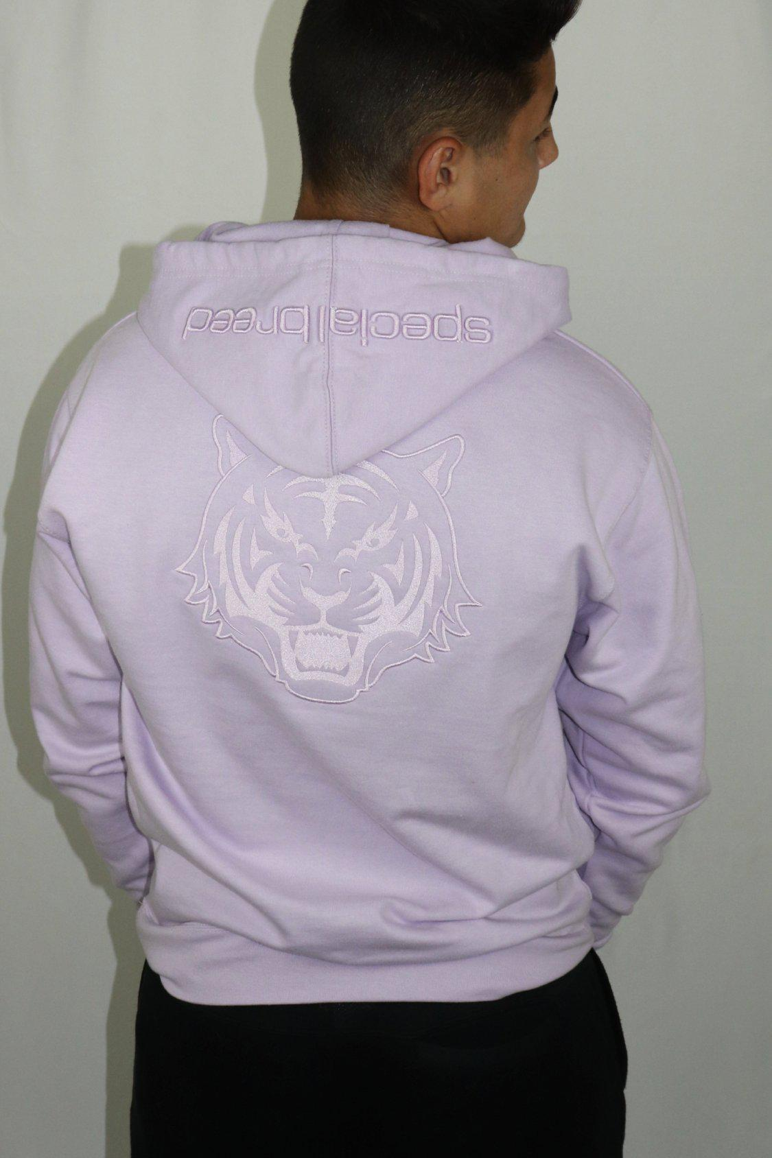 Lilac Hoodie with Lilac Logo Unisex - specialbreed