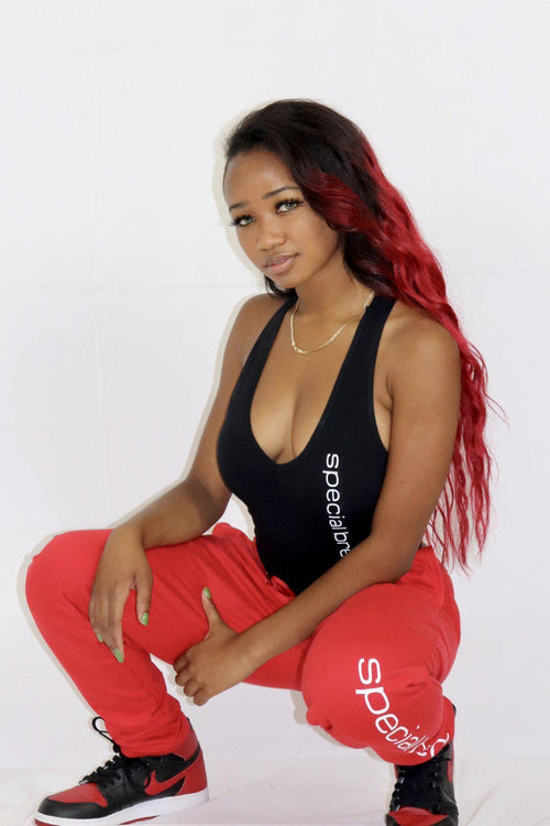 Red Joggers w  Logo Unisex - specialbreed