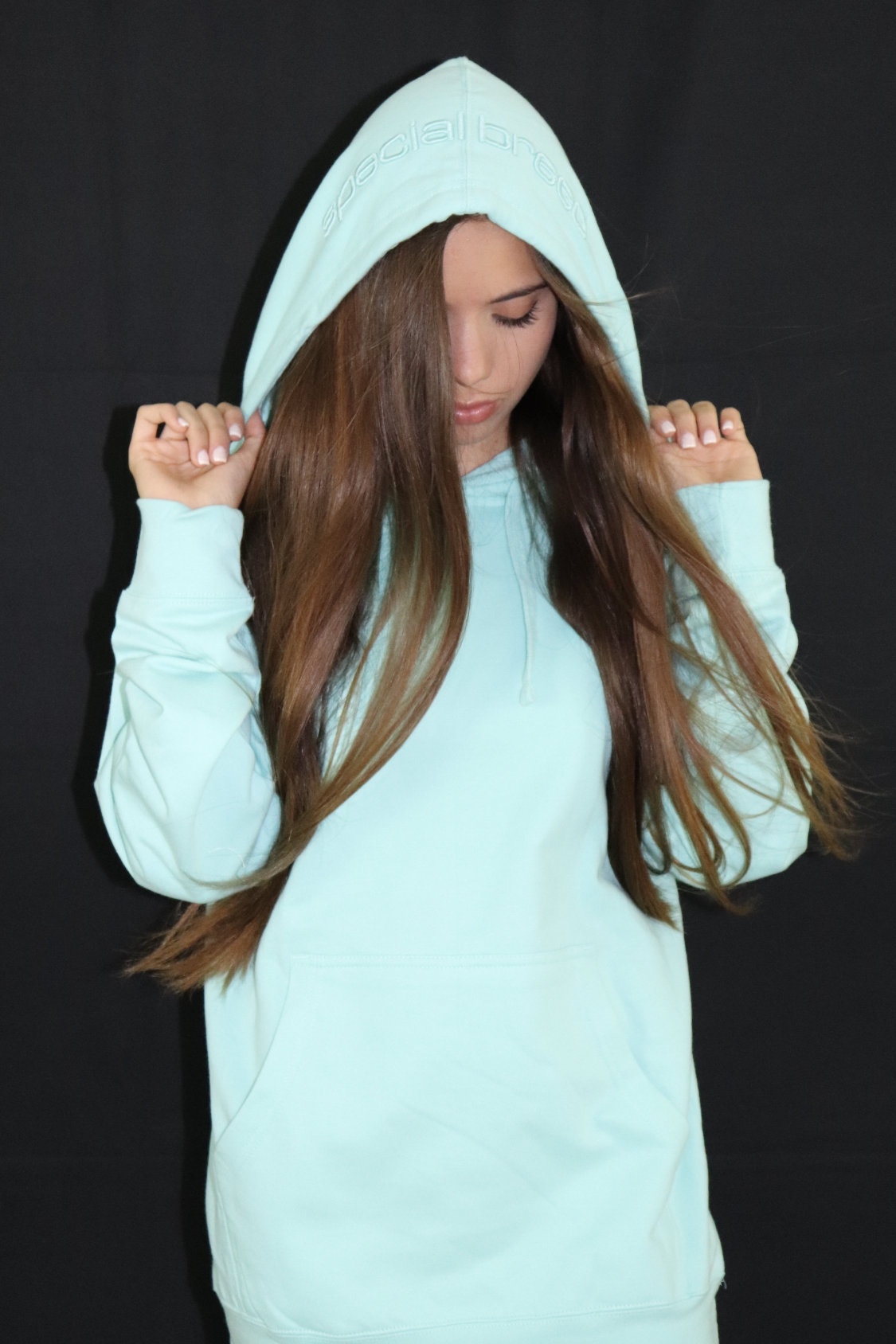 Women's Mint Hoodie with Mint Logo - specialbreed