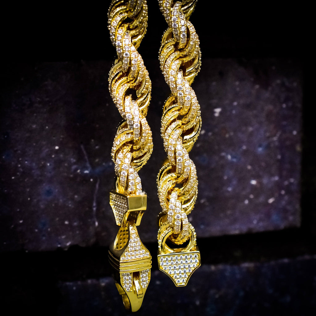 12MM ICED Out Rope Chain