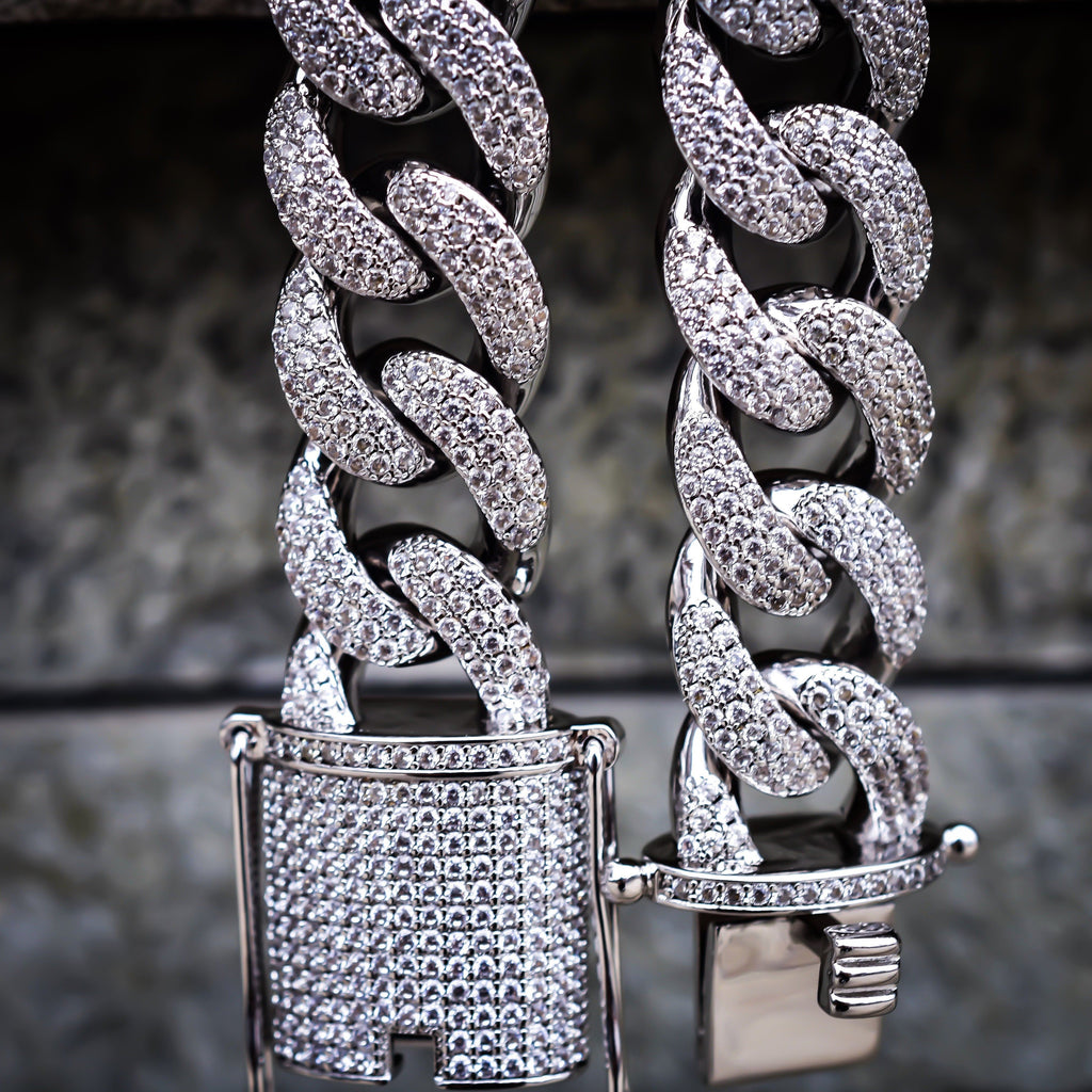 15MM Diamond Cuban Chain
