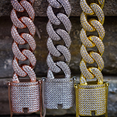 15MM Reversible Diamond Cuban Bracelet