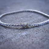 3mm Round Cut Diamond Tennis Bracelet