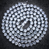 4mm 3 Prong Diamond Tennis Necklace