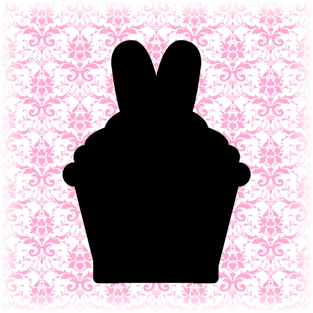 Easter Bunny Ears Cupcake Cookie Cutter