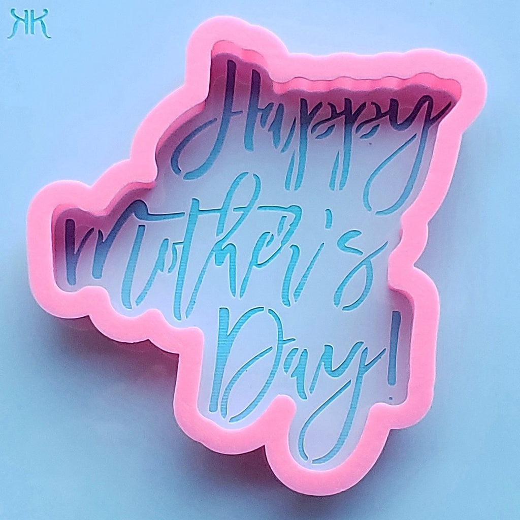 Happy Mothers Day Cookie Cutter And Stencil