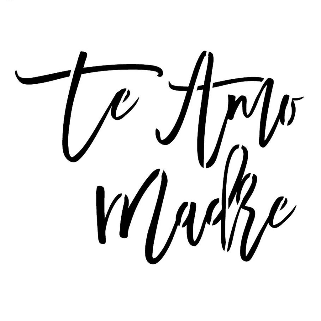 Te Amo Madre Mothers Day Cookie Cutter And Stencil