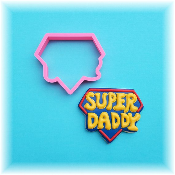 Super Daddy Father's Day Cookie Cutter