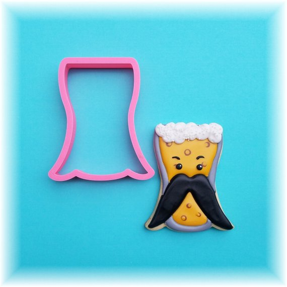 Mustache Beer Glass Father's Day Cookie Cutter