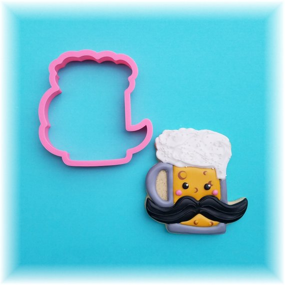 Mustache Beer Mug Father's Day Cookie Cutter