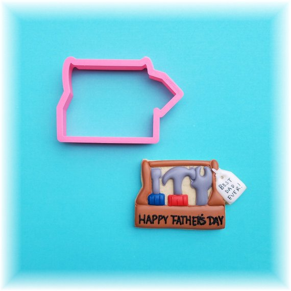 Tool Box With Tag Father's Day Cookie Cutter