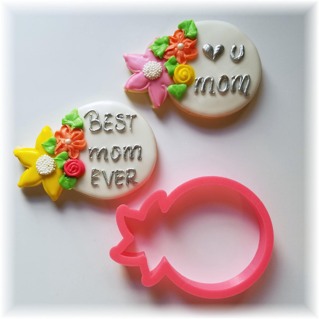Mother's Day Floral Mom Cookie Cutter