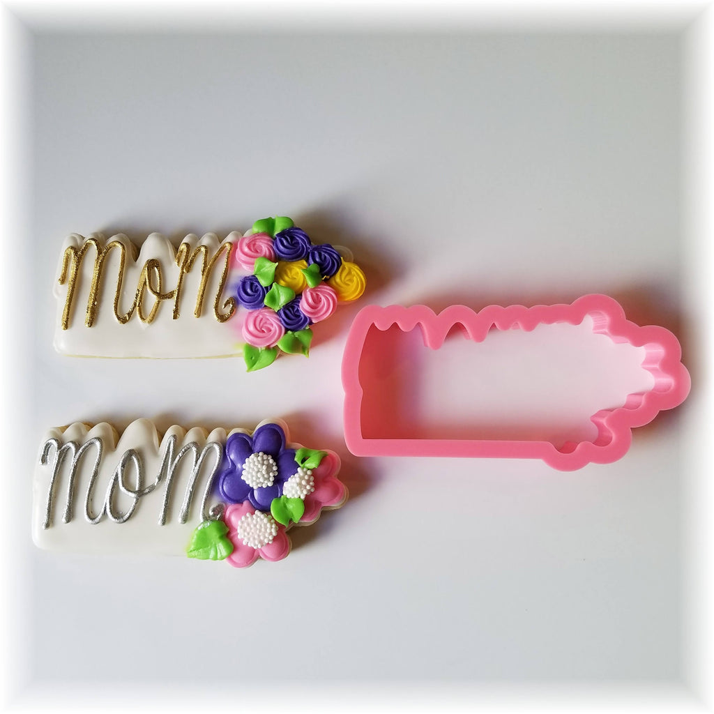 Mother's Day Floral Mommy Cookie Cutter