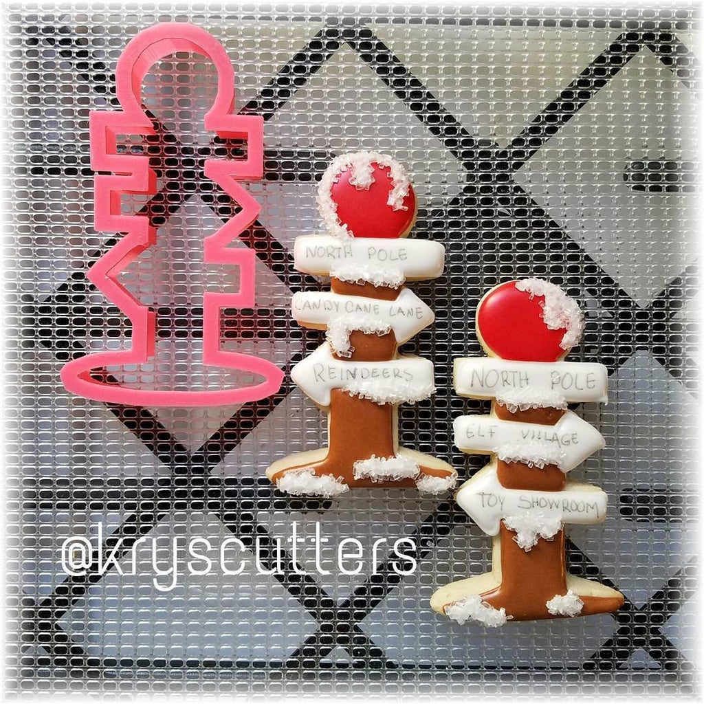 Christmas North Pole Sign Cookie Cutter