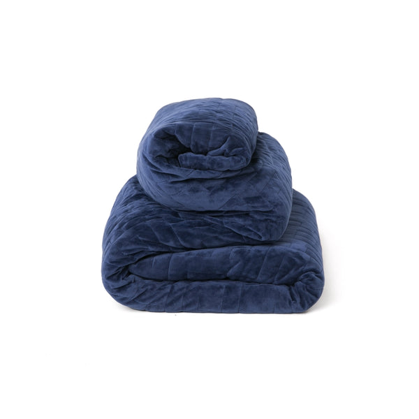 Royal Blue Duvet Cover For Weighted Blankets Solace