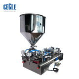 DFF2 electric and pneumatic two heads paste and hand sanitizer gel filling machine