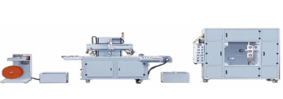 One color Automatic roll to roll screen printing machine for PVC film with drying machine