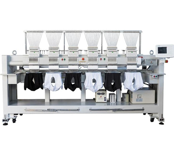 Six Head 12 needless Embroidery Machine