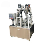 Automatic Tea Cup Filling And Sealing Machine , High Speed Cup Packaging Machine For Herbs