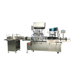 4 head full automatic hand sanitizer paste filling machine line, sanitizer filling machine, capping machine, labeling machine