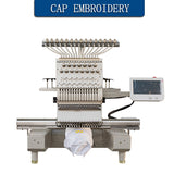 Single Head 12 needless Embroidery Machine Home Computer Embroidery Machine Multifunctional Three-in-One Embroidery Machine