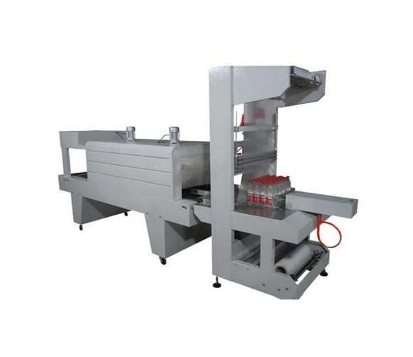 Semi automatic Mineral water PET bottle and carton box shrink wrap machine