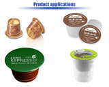 linear type cup filling and sealing machine, nespresso/k-cup coffee packing machine , automatic yogurt cup filling machine