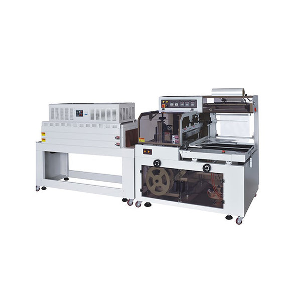 FQS-450+BSE-4522LN Side seal automatic thermal shrink packaging machine, fully automatic rolls shrink wrapping machine
