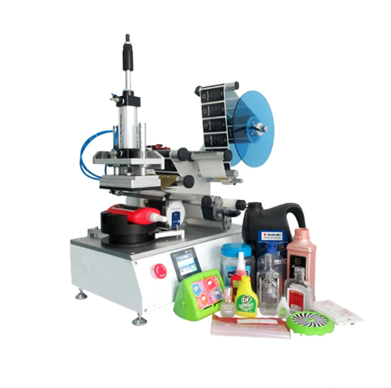 EP-511 Automatic flat bottle labeling machine , PET square bottle label applicator