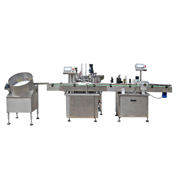 4 head full automatic alcohol liquid filling machine, capping machine, labeling machine