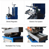 AGP-210 hydraulic semi auto leather logo embossed hot stamping machine