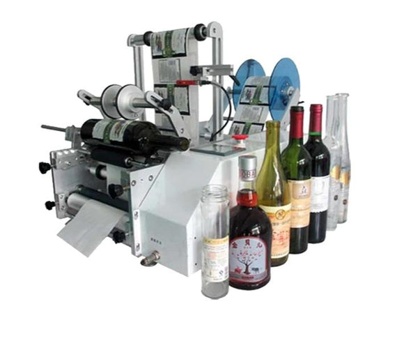 L-200 High speed automatic round bottle labeling machine , PET water bottle label applicator