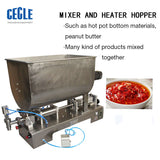 FF6B U mixer hopper filling machine for hotpot seasoning, chili sauce and many grain paste products