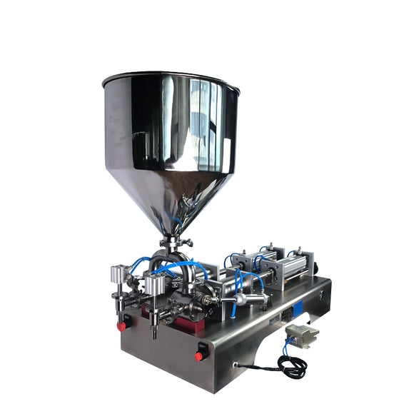 DFF6 2 heads pneumatic paste gel and hand sanitizer filling machine, alcohol filling machine