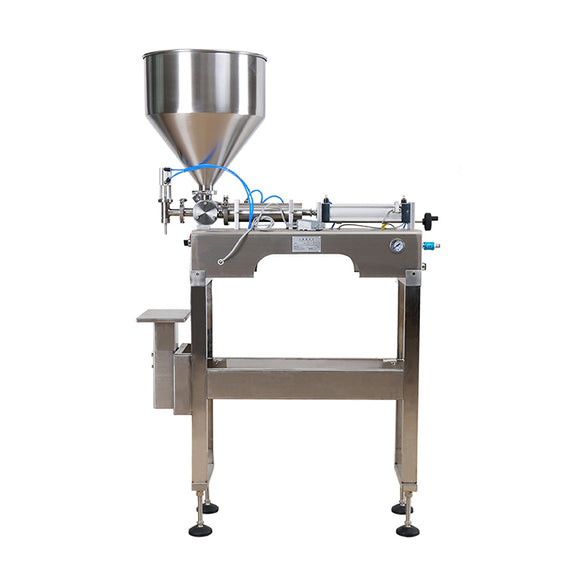FF3 semi automatic one nozzle pneumatic paste hand sanitizer filling machine with SS foot stool